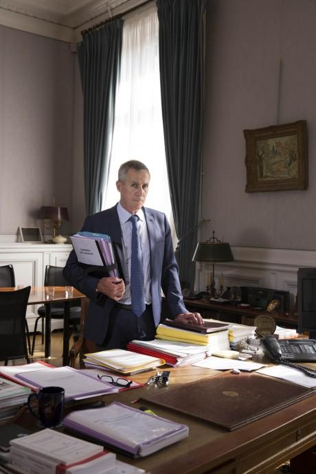 François Molins,  Procureur de la République de Paris depuis 2011, photographié pour Le Monde dans son bureau par Magali Delporte©.