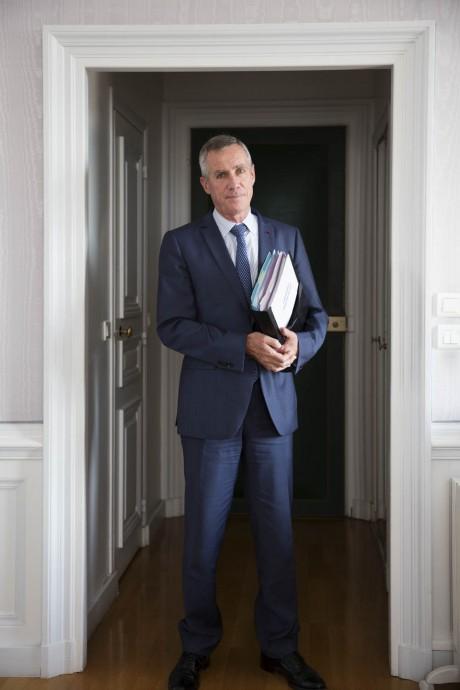 ,  Procureur de la République de Paris depuis 2011, photographié pour Le Monde dans son bureau par Magali Delporte©.