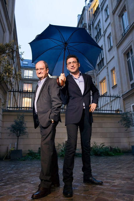 Pierre Lescure and Jean-David Blanc from MOLOTOV in Paris. Photo By Magali Delporte©, only for the Financial Times