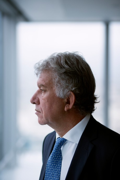 Yves Perrier, CEO of Amundi in Paris, photographed by Magali Delporte for the Financial Times